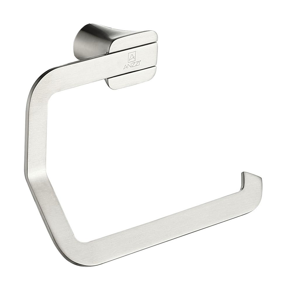 Essence Series Wall-Mount Toilet Paper Holder in Brushed Nickel