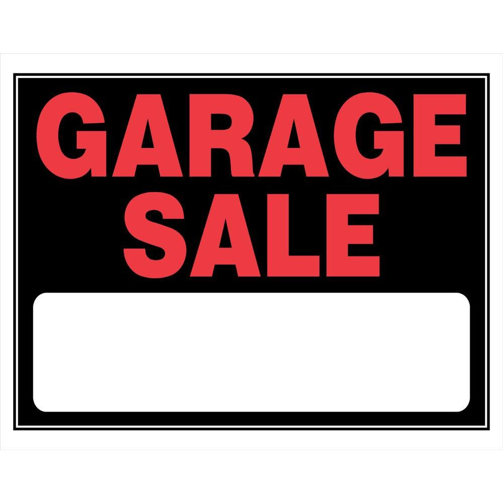 The Hillman Group 15 in. x 19 in. Day-Glo Plastic Garage Sale Sign