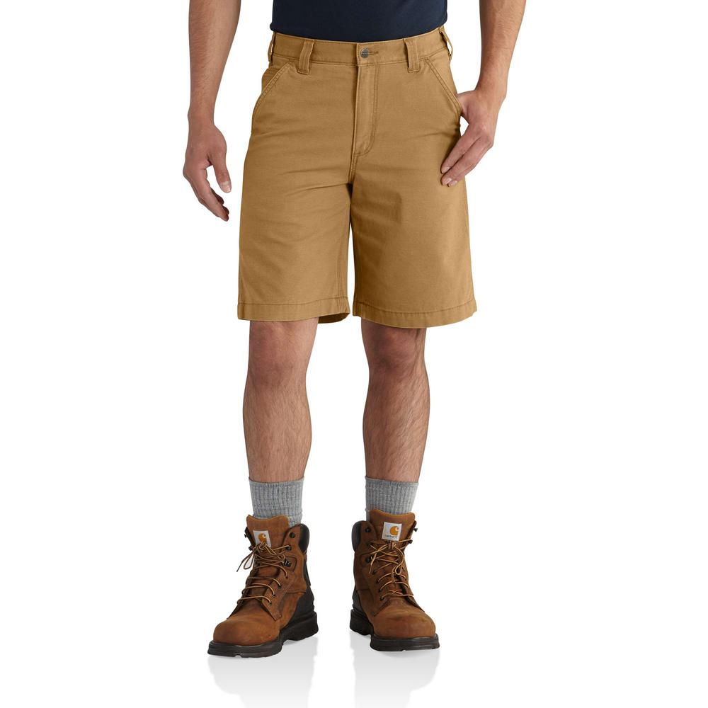 Men's 38 Hickory Cotton/Spandex Rugged Flex Rigby Short