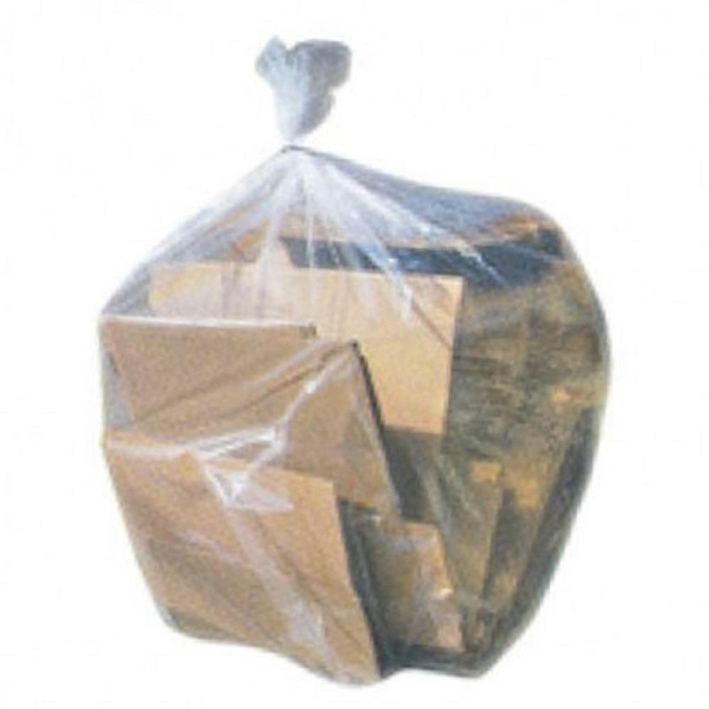 Plasticplace 55 60 Gal Clear Trash Bags Case Of 100