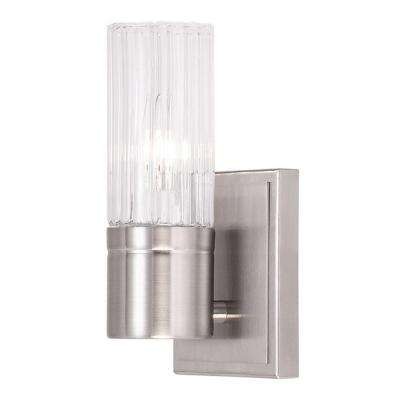 Midtown 1-Light Brushed Nickel Wall Sconce