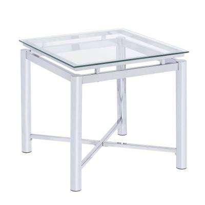 Monroe Clear Modern End Table