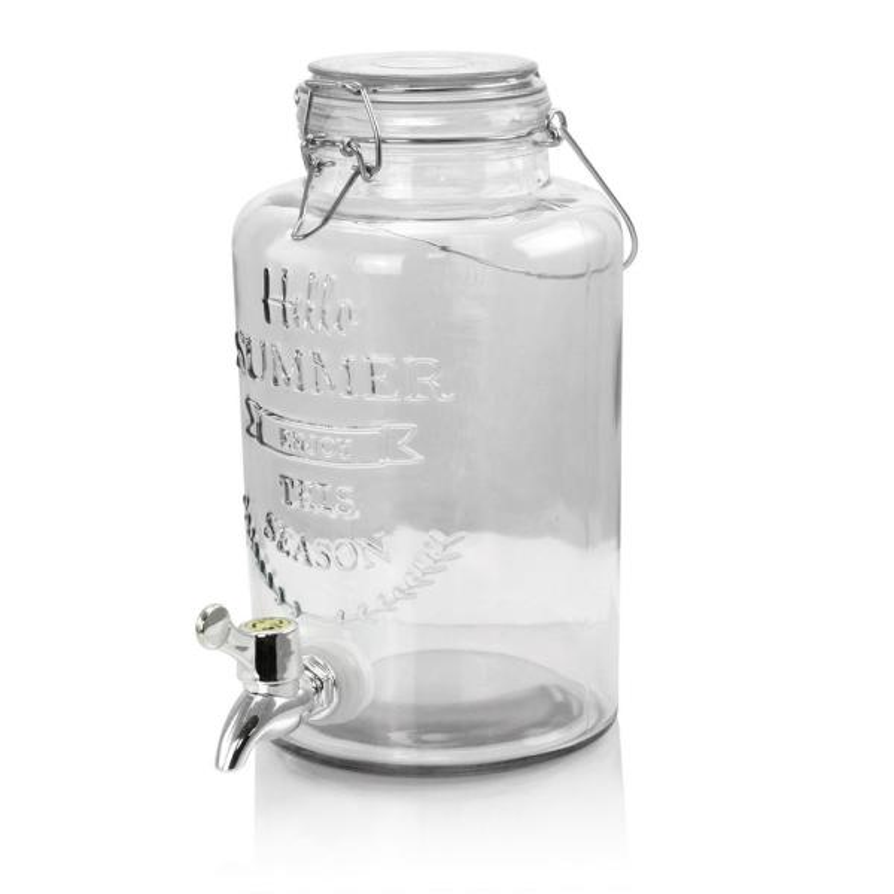 Gibson Home Bayfront Summer 2.6 Qt. Glass Drink Dispenser for Cold