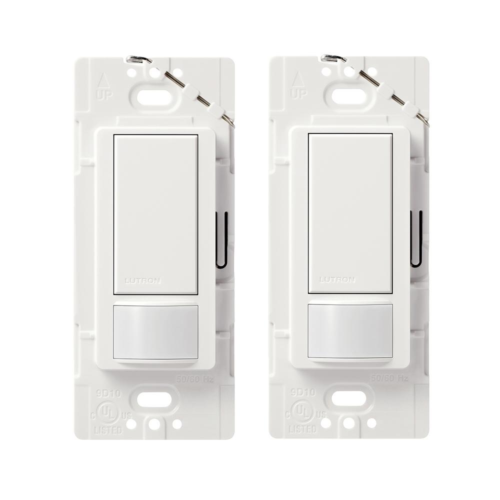 Lutron Maestro 2 Amp Single Pole Motion Sensor Switch White Ms Diagram For The Additional Electronics An External Pir This Review Is Frommaestro Pack