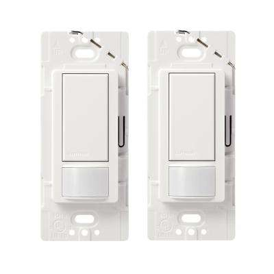 Maestro Motion Sensor switch, 2-Amp, Single-Pole, White (2-Pack)