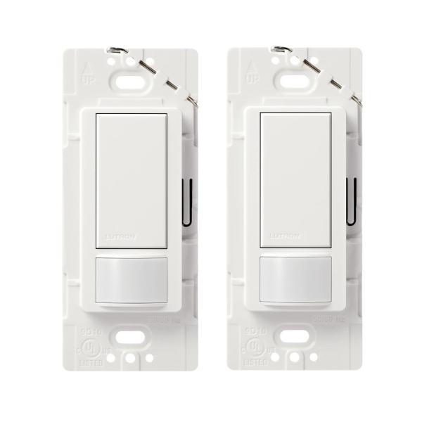 Maestro Motion Sensor Switch, 2 Amp, Single-Pole, White (2-Pack)
