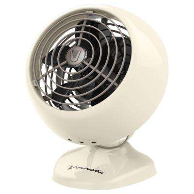 VFAN Mini Classic Personal Vintage Air Circulator Fan, Vintage White