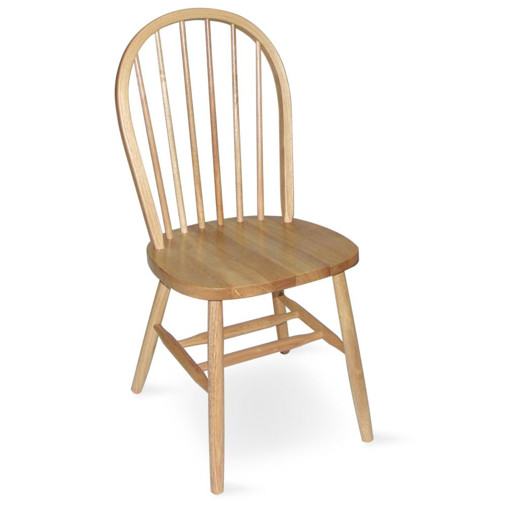 Charmant International Concepts Natural Wood Spindle Back Windsor Dining Chair