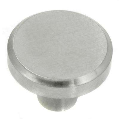 Brickell 1-1/4 in. Stainless Steel Small Flat Top Cabinet Knob