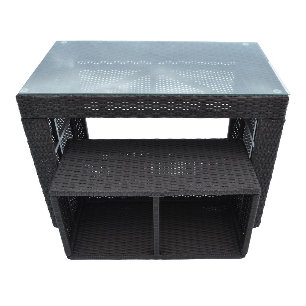Canadian Spa Company Straight Bar and Stool - Square Spa Surround ...