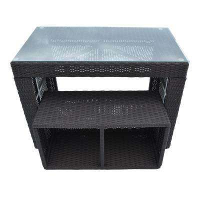 Straight Bar and Stool - Square Spa Surround Furniture