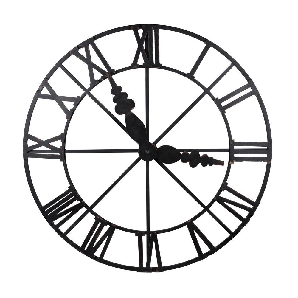 Faux Clock Wall Decor Matte Black
