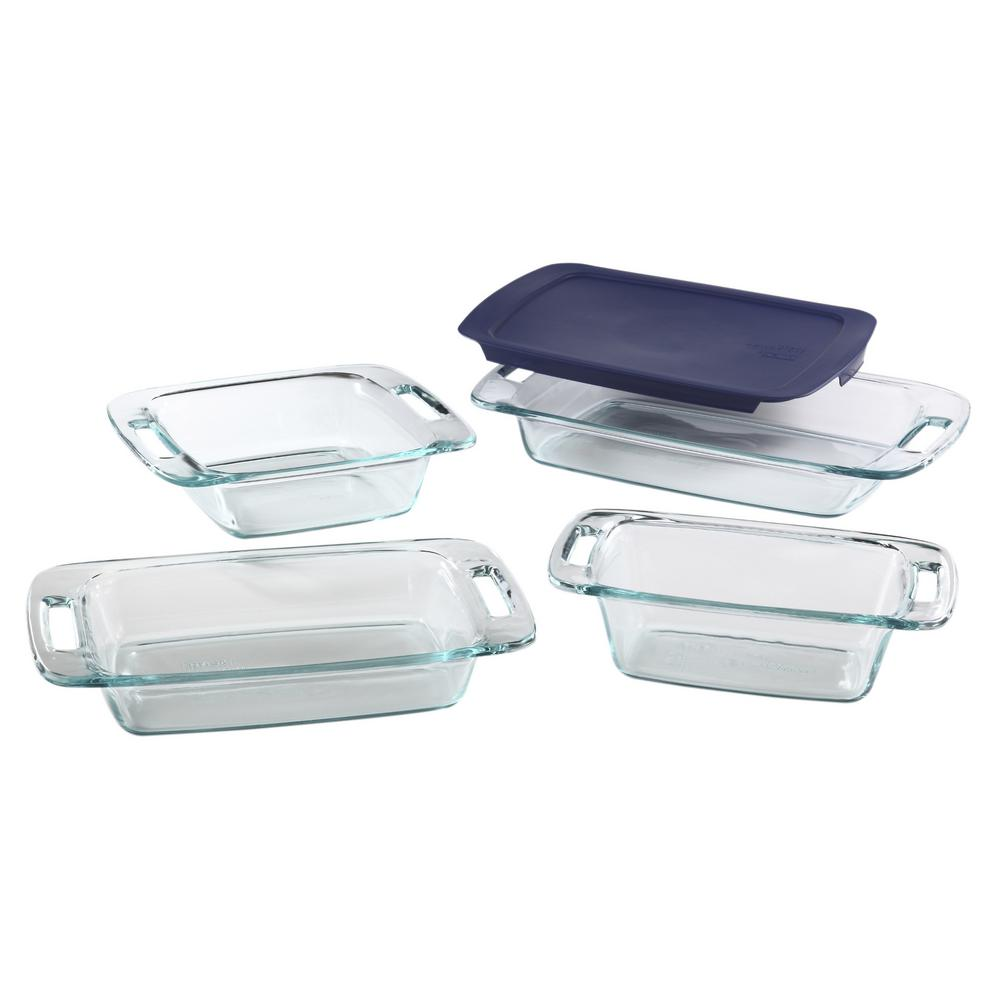 Easy Grab 5-Piece Rectangle Glass Casserole Set