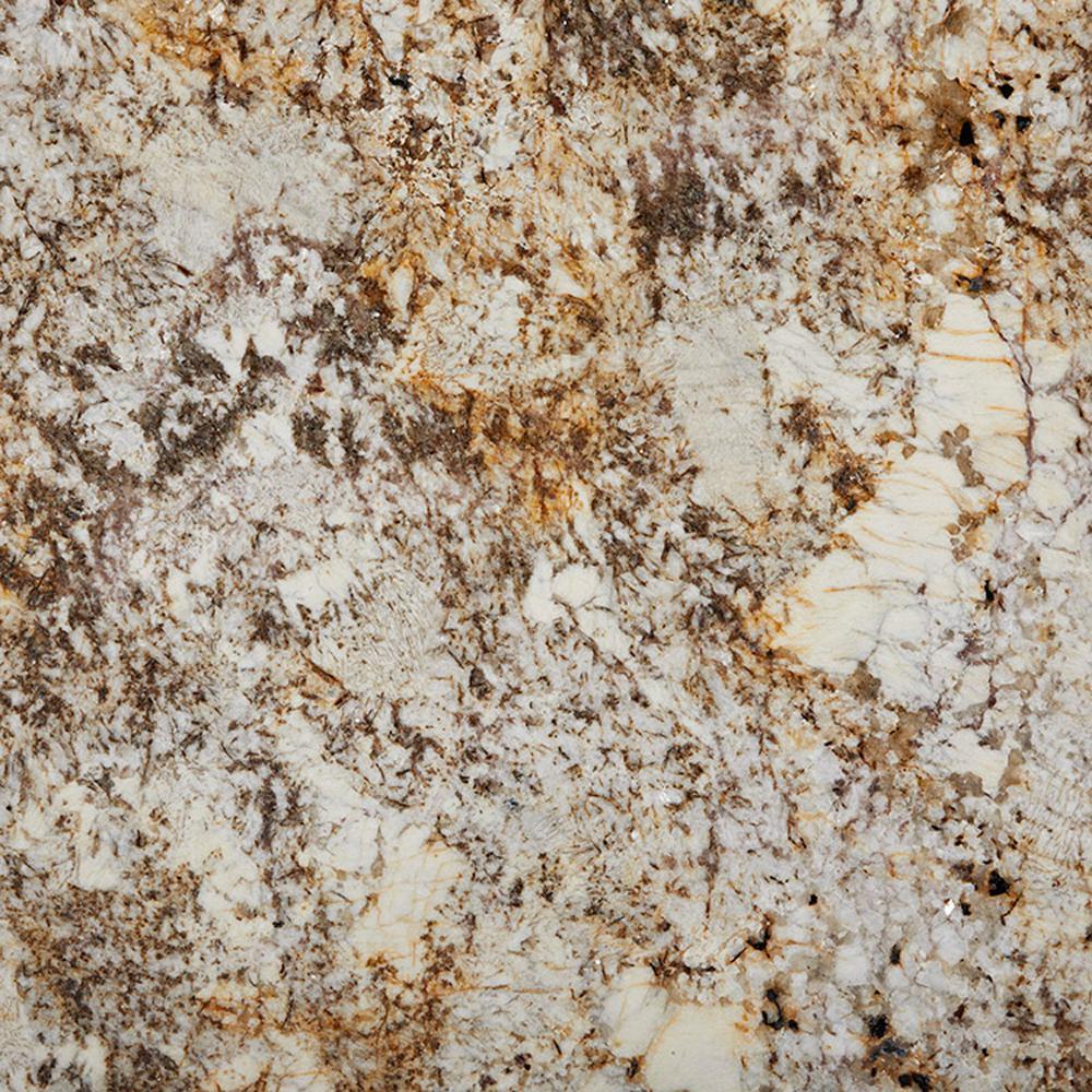 3 in. x 3 in. Granite Countertop Sample in Desert Beach