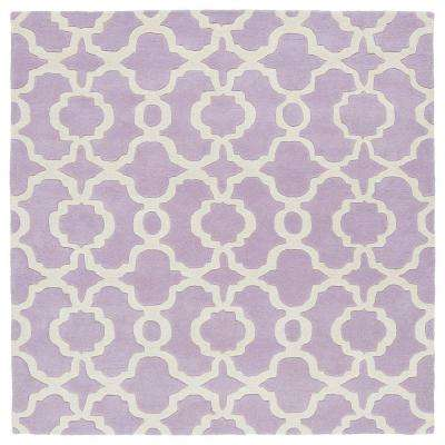 Revolution Lilac 8 ft. x 8 ft. Square Area Rug