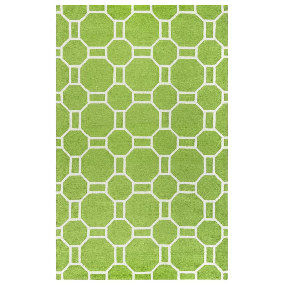 Rizzy Home Azzura Hill Lime Green Geometric 8 Ft X 10 Ft
