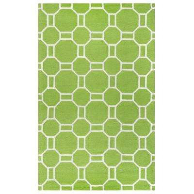 Azzura Hill Lime Green Geometric 8 ft. x 10 ft. Outdoor Area Rug