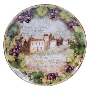 The Sanctuary Wine Collection Round Platter by