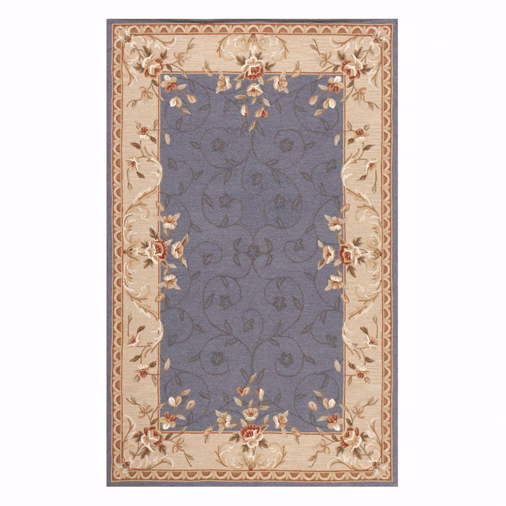 Home Decorators Collection Melody Blue 6 ft. x 9 ft. Area Rug