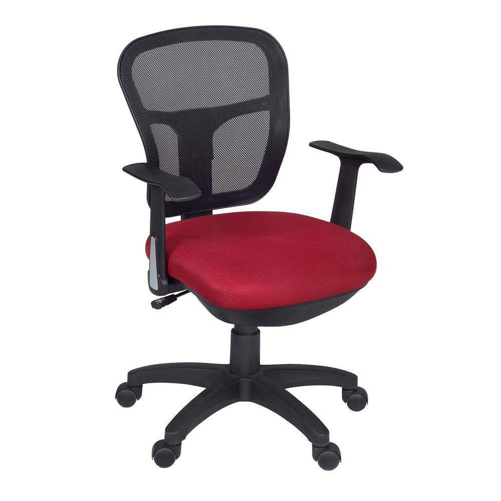 Harrison Red Swivel Chair5125RD The Home Depot