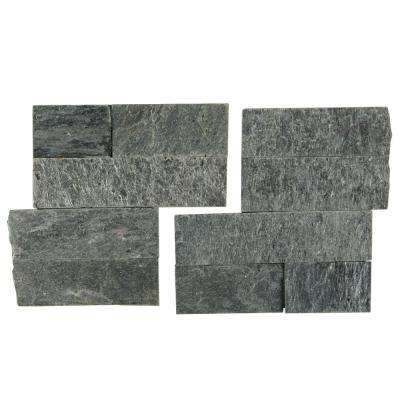 Salvador Platinum Corner 6 in. x 6 in. Natural Quartzite Wall Tile (6 sq. ft. / case)