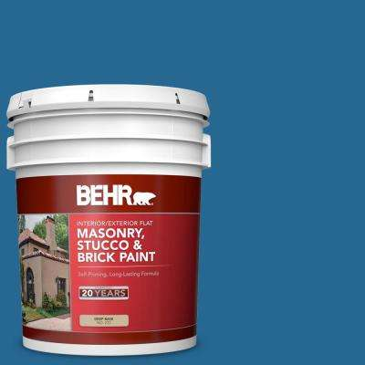 5 gal. #OSHA-1 OSHA Safety Blue Flat Interior/Exterior Masonry, Stucco and Brick Paint