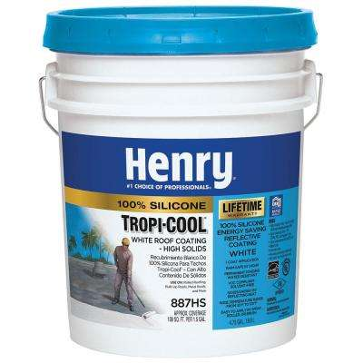 4.75 Gal. 887 Tropi-Cool 100% Silicone White Roof Coating (24-Piece)