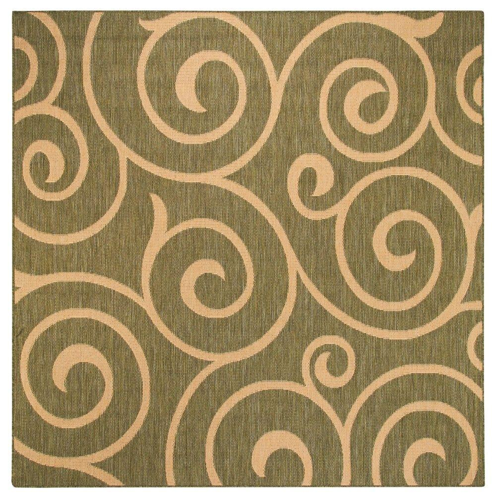 null Whirl Natural and Sage 7 ft. 6 in. Square Area Rug