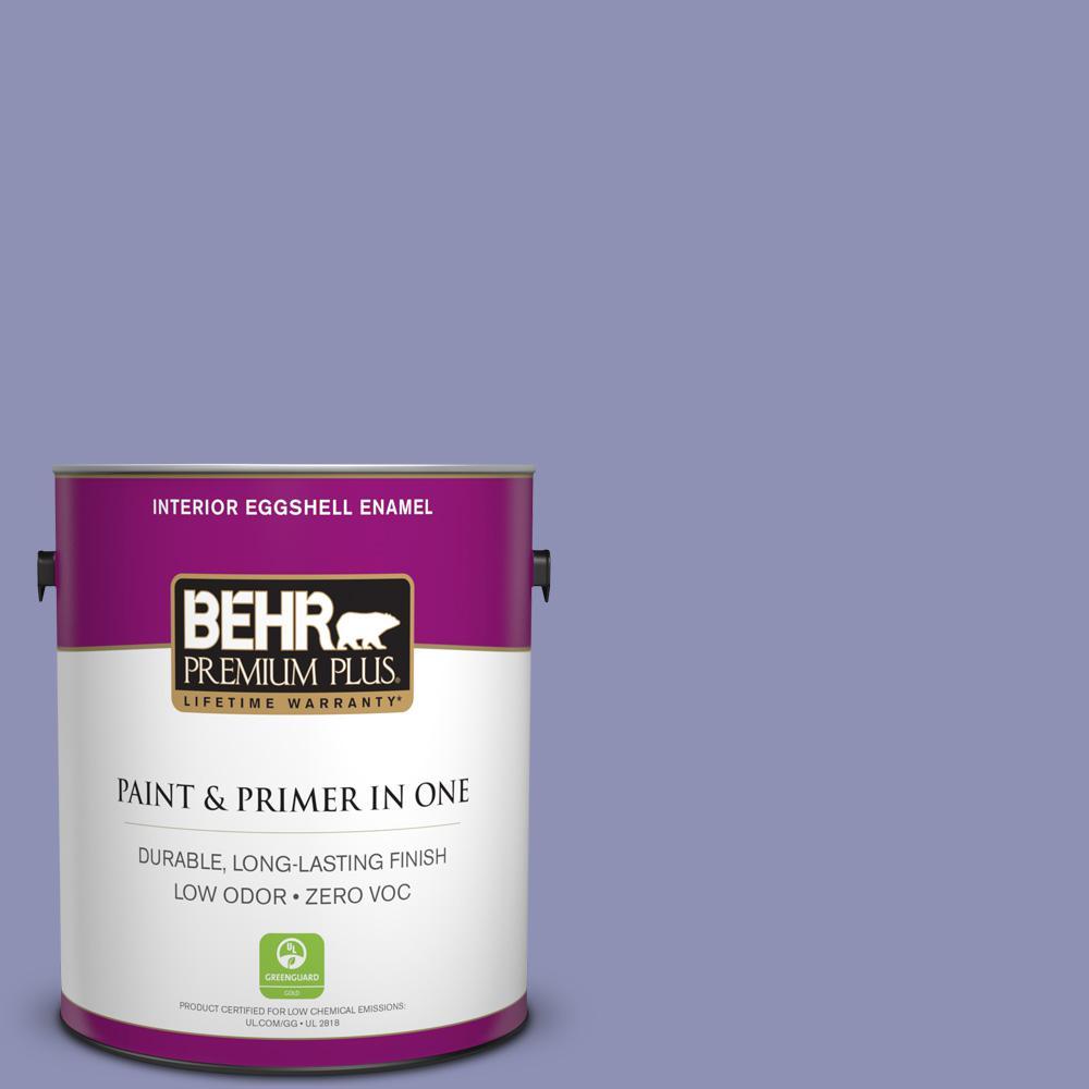 BEHR Premium Plus 1-gal. #630D-5 Wild Wisteria Zero VOC Eggshell Enamel Interior Paint