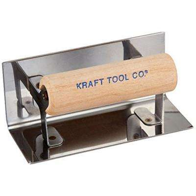 6 in. x 2-1/2 in. Inside Step Tool with 1/4 in. Radius with Wood Handle