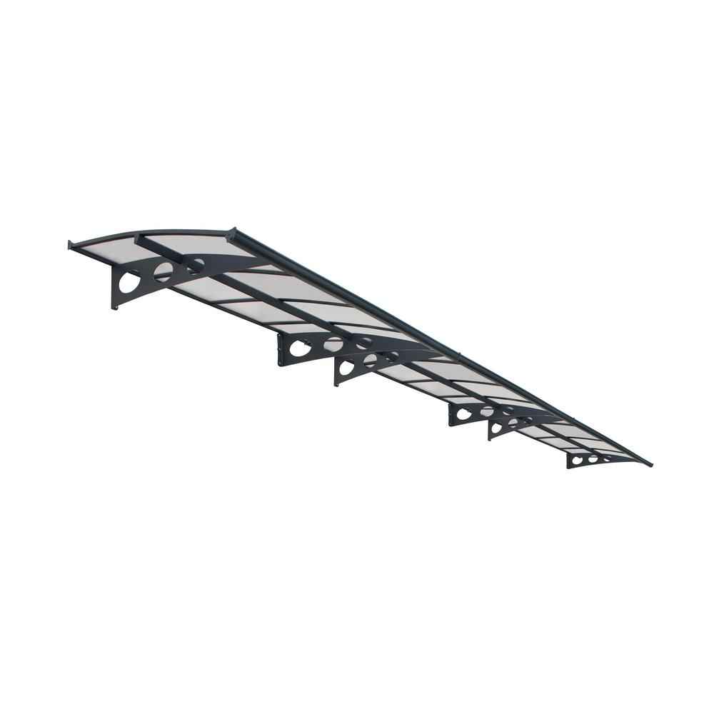 Palram Herald 6690 Awning In Grey/Clear  sc 1 st  Home Depot & Palram Herald 6690 Awning In Grey/Clear-703922 - The Home Depot