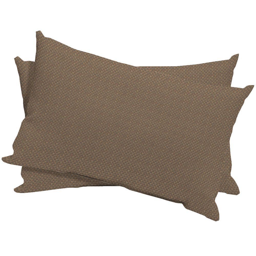 Arden Basswood Texture Outdoor Lumbar Pillow (2-Pack)-DISCONTINUED