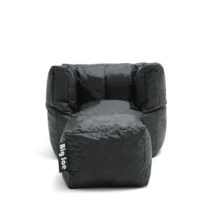 Miraculous Cube Chair With Ottoman Stretch Limo Black Smartmax Bean Bag Gmtry Best Dining Table And Chair Ideas Images Gmtryco