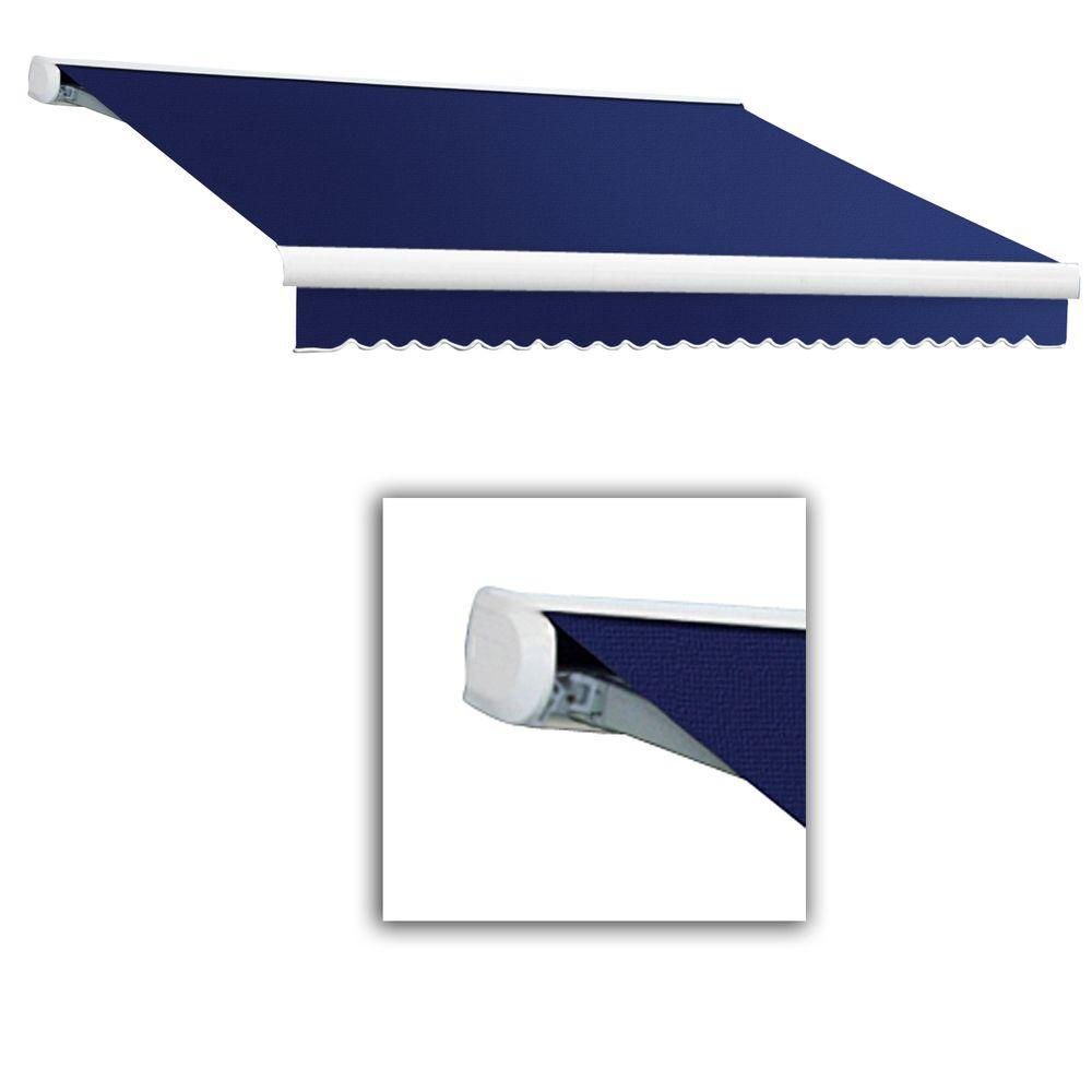 AWNTECH 18 ft. Key West Full-Cassette Manual Retractable Awning (120 in. Projection) in Navy