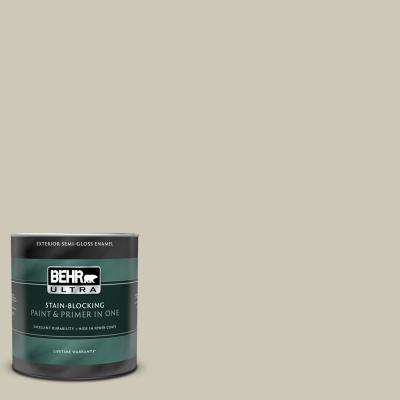 1 qt. #UL190-16 Coliseum Marble Semi-Gloss Enamel Exterior Paint and Primer in One