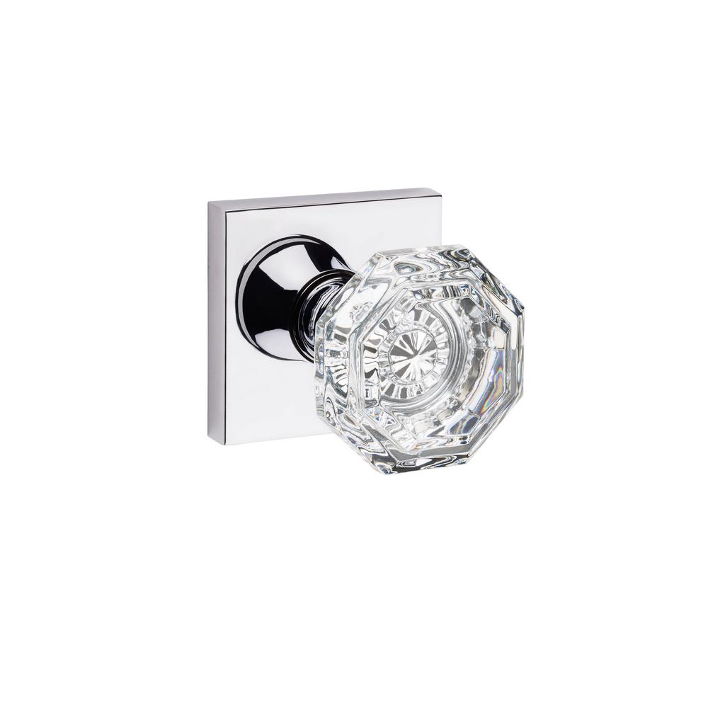 Baldwin Crystal Reserve Polished Chrome Full Dummy Door Knob