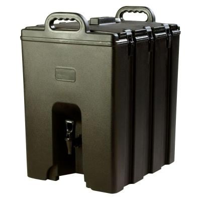 Insulated 10 gal. Beverage Server with Nylon Latch in Black