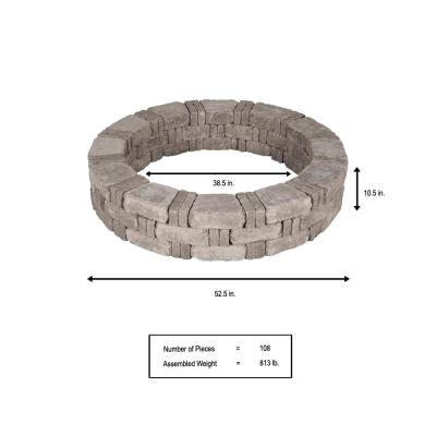 RumbleStone 52.5 in. x 10.5 in. Tree Ring Kit in Greystone