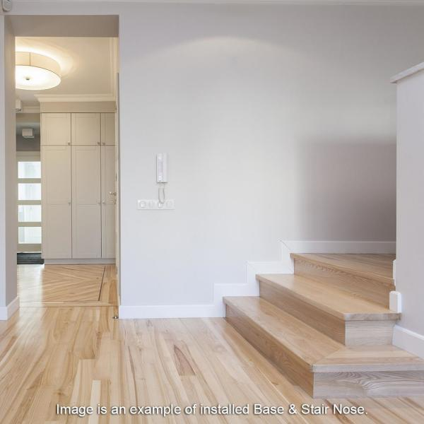 Zamma Grey Wood 3 4 In Thick X 2 1 8 In Wide X 94 In Length Vinyl Stair Nose Molding 015543824 The Home Depot