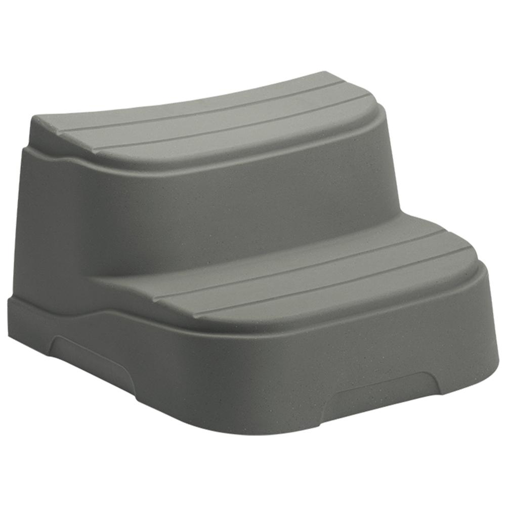 Lifesmart Taupe Step for Round and Oval Hot Tubs-78275 - The Home Depot