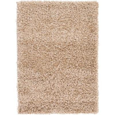Solid Shag Taupe 2 ft. x 3 ft. Area Rug