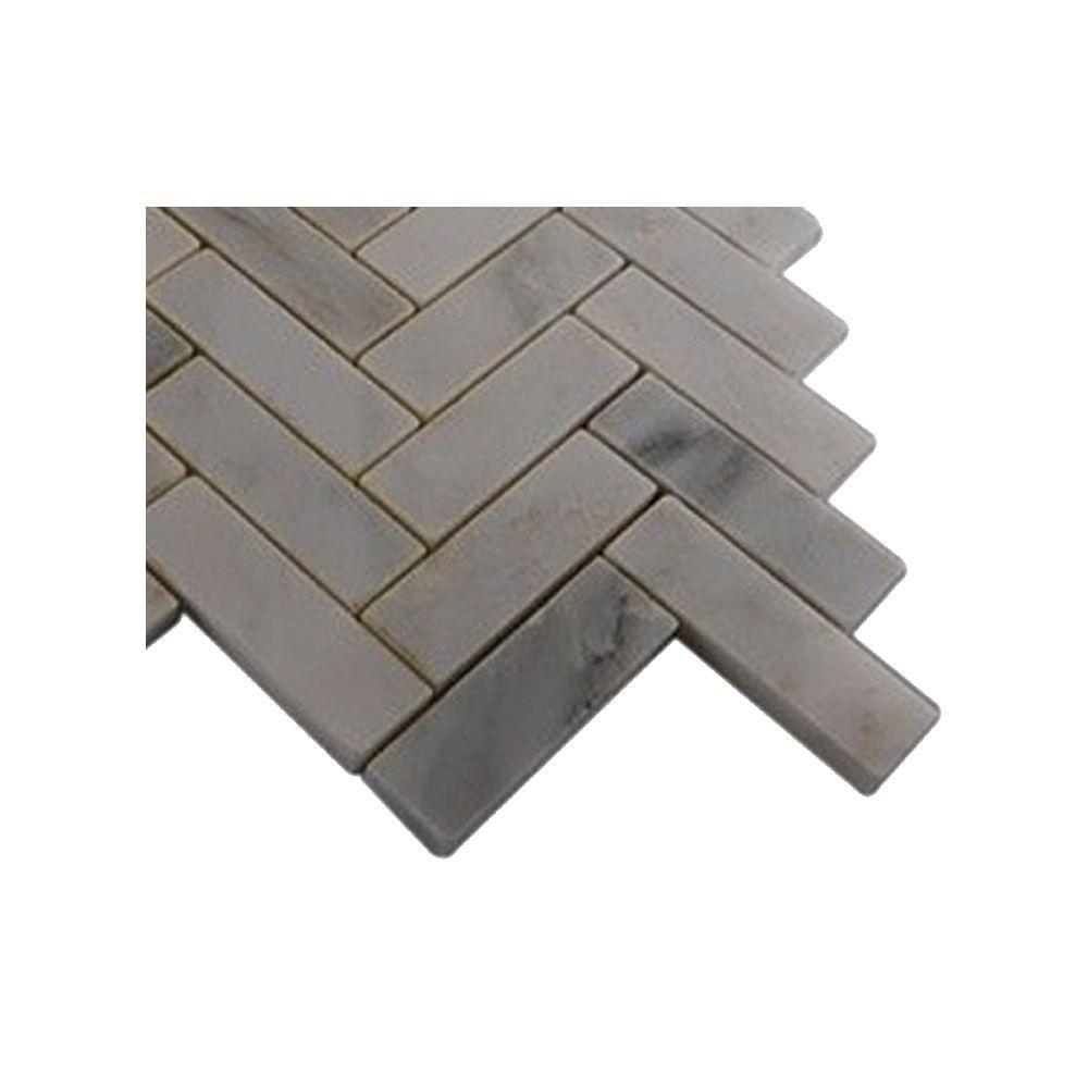 Splashback Tile Oriental Sculpture Herringbone Marble Mosaic Floor ...