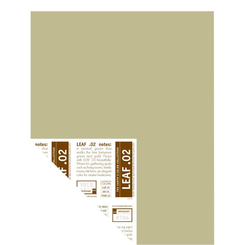 YOLO Colorhouse 12 in. x 16 in. Leaf .02 Pre-Painted Big Chip Sample