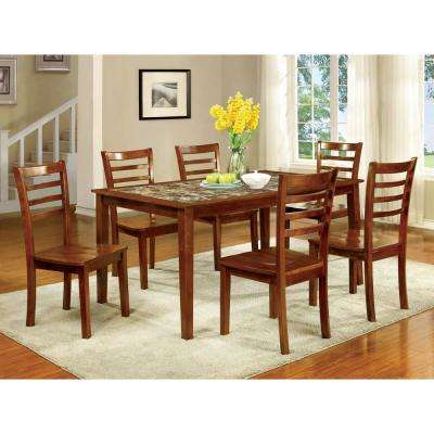 Fordvill I Antique Oak Transitional Style Dining Table