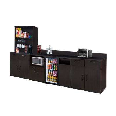 Coffee Kitchen Espresso Sideboard with Lunch Break Room Functionality with Assembled Commercial Grade 3387