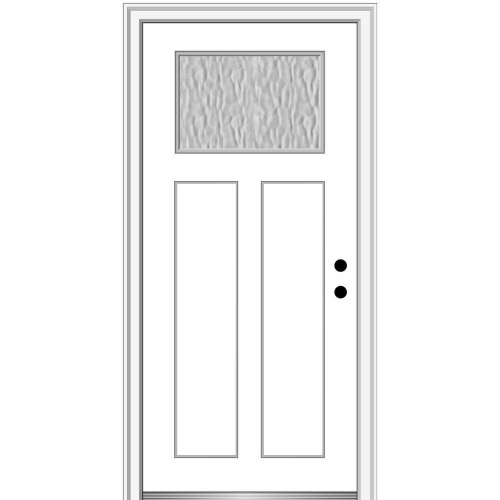 Mmi Door Vapor 32 In X 80 In Left Hand Inswing Craftsman 2 Panel Primed Fiberglass Prehung Front Door With 6 9 16 In Frame Z0373061l The Home Depot