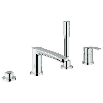 Eurostyle Cosmopolitan Single Handle Roman Tub Filler with Personal Hand Shower in StarLight Chrome
