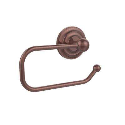 Que New Collection European Style Single Post Toilet Paper Holder in Antique Copper