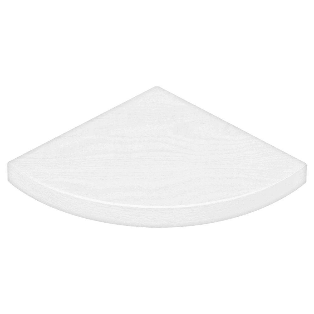 Dolle 12 in. x 12 in. x 3/4 in. Lite Corner Shelf in White
