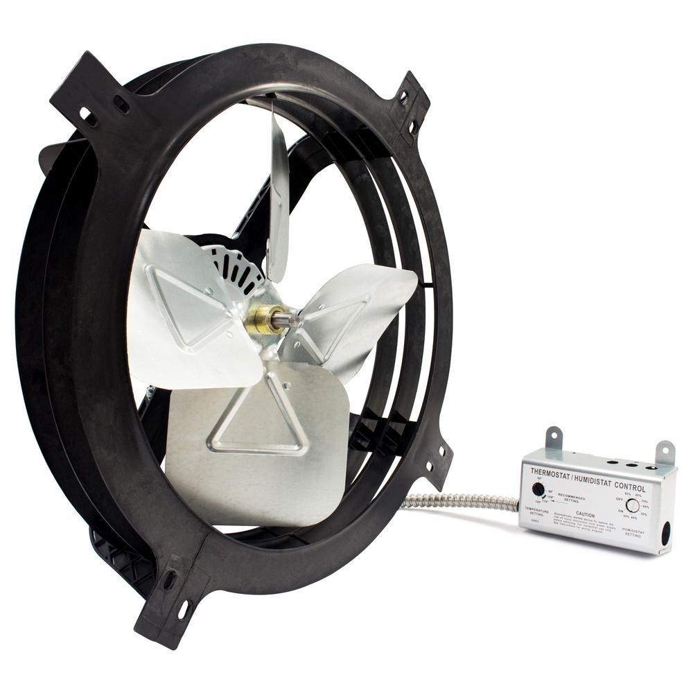 1620 CFM Mount Powered Attic Gable Fan